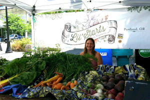 Lil Starts Farmers Market Booth
