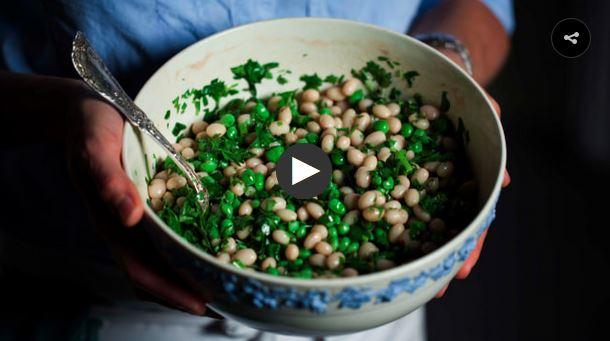 English Pea & White Bean Salad