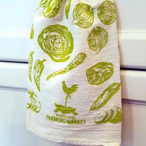Portland Farmer's Market Veggie Kitchen Towel