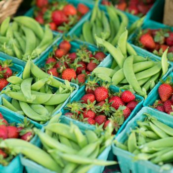 Strawberries and Snap Peas